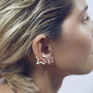 Gold Yellow Star Ear Cuff Boho Cartilage Earring